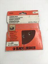 BLACK & DECKER SANDING DISCS 115MM X 22MM 60 GRIT A1625