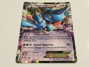 Pokemon Card Toxicroak EX Holo XY Flash Fire Set Edition Ed 41/106 1st Mega M.