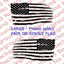 LARGE - DISTRESSED American USA Flag Vinyl Decal for Car Truck Window 4x4 US020