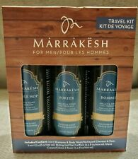 Marrakesh For Men 3pc Travel Kit 2N1 Shampoo/Body Wash, Styling Gel, Shave Cream