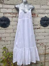 Gorgeous White Size 14 Tiered Cotton Midi Length Sun Dress☀️☀️☀️