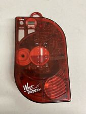 Vintage Salton Wet Tunes Am/Fm Shower Radio Translucent Red Wt50