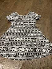 The Children'S Place Girls Nordic Dress Black White Size 10-12 Holidays