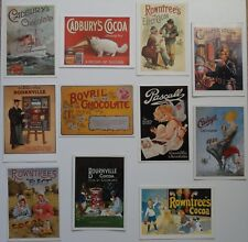 Advertising - 11 modern postcards showing chocolate / cocoa advertisements