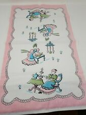 Vintage Linen Dishcloth Tea Towel
