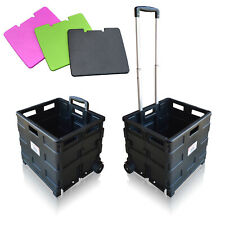 More details for sun leisure® pack and go folding shopping trolley, boot cart with wheels