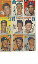 1954 topps pick any 7 cards from the large list of over 90 different cards.