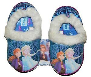 DISNEY FROZEN 2 ANNA ELSA Plush Sparkle Slippers Size 5-6 7-8 9-10 or 11-12 NWT