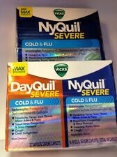 Lot of 2 Vicks Nyquil 24caplets & Dayquil-Nyquil 48 caplets