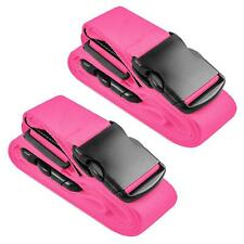 2x Koffergurt Gepäckgurt Koffergürtel Kofferband Gepäckband Kofferriemen Reise