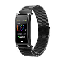 Bakeey F8 Milanese Strap Metal Boday Heart Rate Physiological Cycle Monitor