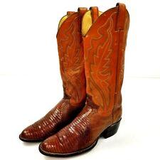 Vtg Justin Womans Lizard Skin Boots Sz 6 B Tan USA Made Cowgirl Boots L4562 Vguc