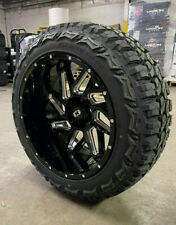 22x12 Vision Spyder Black Wheels 35 Mt Tires Package 8x170 Ford Excursion F250