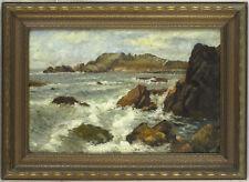 Laura Woodward (1834-1926) American Hudson River School Oil/Panel Seascape Maine
