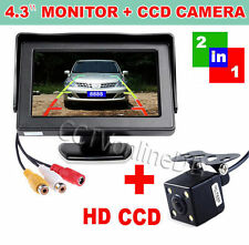 "4.3"" Car TFT LCD Color Monitor+Rear View Reversing Backup HD Camera System"