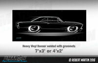 BIG Banner 1967 Chevelle Art 67 Chevrolet SS Chevy Super Sport shop sign poster