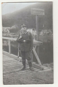 Foto Ak Landser IR45 Brücke Schild 1 Wk WW1 ! (A3941