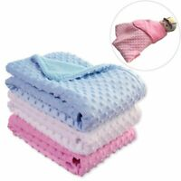 Baby Blanket Swaddling Newborn Thermal Soft Fleece Winter Solid Bedding Cotton
