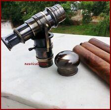 Walking Cane Brass Telescope Walking Stick Vintage Style Antique Wooden Canes