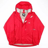 Vintage HELLY HANSEN Red Hooded Outdoor Lightweight Jacket Men's Size Medium