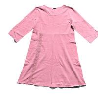MISS LOOK Lagenlook Midi Dress Lace Detail 3/4 Sleeve Dark Salmon Size 2XL UK 20
