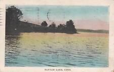 Antique POSTCARD c1926 Bantam Lake BANTAM, CT Litchfield 16296