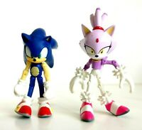 Sonic the Hedgehog Articulated 4 Inch Jazwares Figure Sonic and Blaze Set