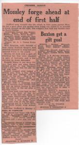 Stafford 2 Mossley 2 Buxton 3 Oswestry 2 Cheshire Lg Jan 22nd 1966 press cutting