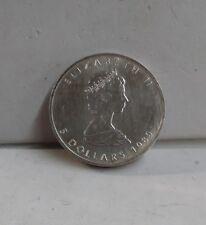 5$ Dollar Canadian Fine Silver .999 1 Oz Maple Leaf
