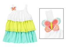 NWT Gymboree BUTTERFLY CATCHER White Sea Lime Colorblocked Ruffle Dress Girl 5T