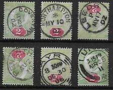 """2d.Values x 6.  Each With Very Fine CDS - Incl. Scarce """"PENARTH"""".   Ref.1/53"""