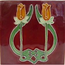 9934008 Jugendstil-Fliese Kachel Keramik neu 15,2x15,2cm