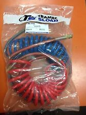 "Red/Blue Coiled Airline Set Sloan/Tramec 15' Coiled W/ 40"" Lead"