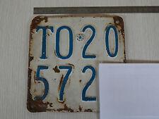 TARGA TORINO ANNO 1960 GILERA 98 PER SOLO USO COLLEZIONE