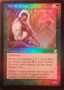 Mur de racines PREMIUM / FOIL VF - French Wall of Roots -Time Spiral Magic mtg