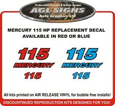 MERCURY 115 HP outboard  Replacement Decal