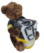 Pittsburgh Steelers NFL Bear Mascot Pillow Fleece Throw Blanket Combo