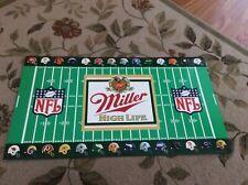 Vintage Miller High Life Beer NFL sign