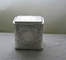 Oblong Biscuit Box, Embossed