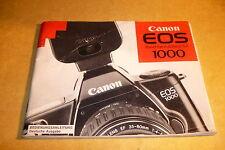 Originale Bedienungsanleitung für Kamera Canon EOS 1000 - deutsche Ausgabe !