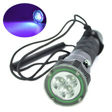 Underwater 100M UV 390nm 15w Diving Flashlight 3xXPE LED Scuba Lamp 18650 Torch