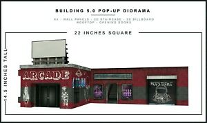 """Extreme-Sets Building 5.0 Pop-Up Diorama 1/12 Scale for 6""""-7"""" Action Figures"""