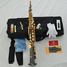 professional Black nickel taishan soprano saxophone Bb sax high F# with case