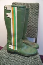 VINTAGE 70's HONDA STYLE LEATHER MOTORCYCLE BOOTS SIZE UK 8