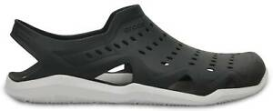 Crocs Swiftwater Wave Sandal Brand New with tag Black Grey Men's 11 203963-069