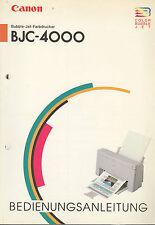 Bedienungsanleitung für Canon BJC-4000 Farbdrucker