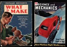 New listing 1930-40's Science & Mechanics & Four Popular Mechanics Mags. & What to Make '44