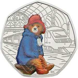 Original Paddington Bear at the Station 50p Silver Proof Royal Mint Coin 2018