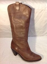 Roots Brown Mid Calf Leather Boots Size 41