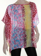Kaftan Top Caftan Blouse Batwing Plus Size 8 - 24 Women Sheer Colourful Cover Up